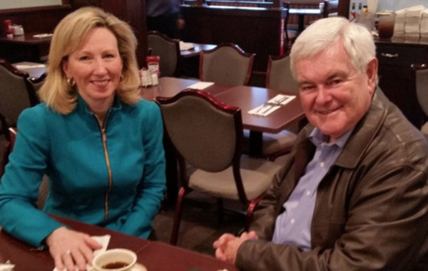 Barbara Comstock with Newt Gingrich
